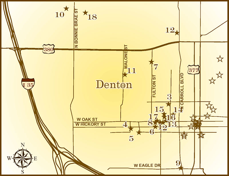 Denton Ohio Map.Denton County Historical Markers